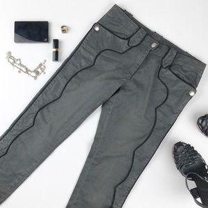 Isabel Marant grey pants with black trim size